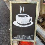 ラジオプラントのコーヒー看板
