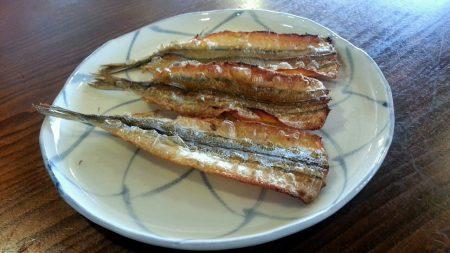 海老丸太刀魚の一夜干し
