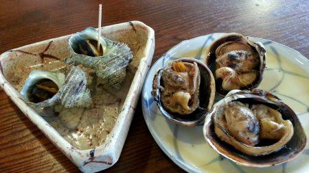 海老丸大浅利とサザエのつぼ焼き