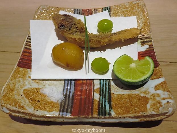 湯島くろぎ松茸のフライ