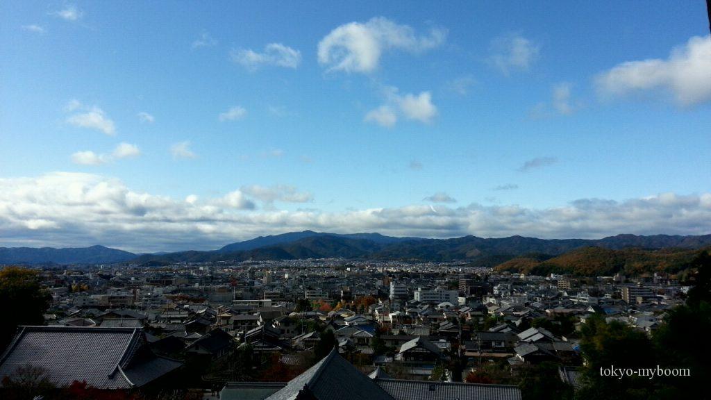 圓光寺の裏山からの眺望