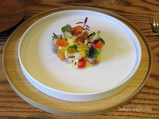 野菜と魚介の