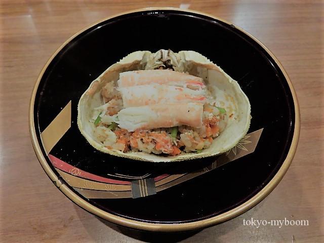 せこ蟹と五穀米